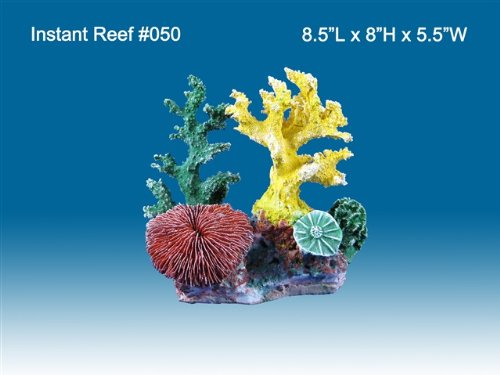 Instant Reef #050 Artificial Coral Reef Aquarium Decoration for Saltwater Fish, Marine Fish Only with Live Rock Aquarium, Coral Reef Tank, Freshwater Aquarium. Gorgeous Corals, Non-Toxic, Easy to Clean. Reef Aquarium at Saltwater Fish Only Tank costs