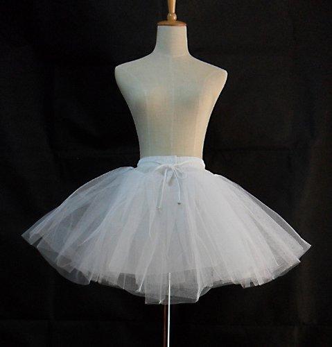 R-STYLE 3段(4段)のネット入りでしっかり広がる ロリータファッションやメイド服にも パニエ (35cm, 白)