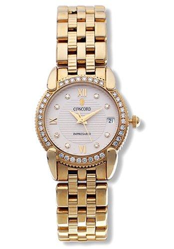 Concord Impresario 18k Gold Diamond Womens Watch 0309093