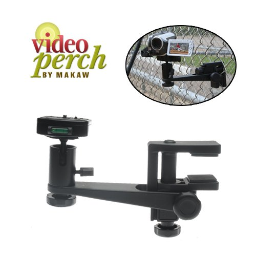 Makaw Video Perch Camera Mount Clamp With Ballhead And Quick Release For Digital Cameras, Camcorders & Spotting Scopes
