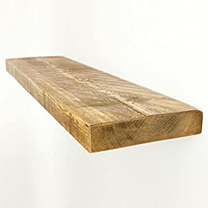 Funky chunky furniture 9x2 rustic chunky wooden floating for Furniture 30cm deep