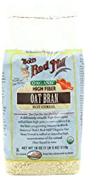 Bob's Red Mill Organic Oat Bran Hot Cereal, 18-Ounce Bags (Pack of 4)