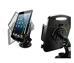 2010kharido Universal 7 to 11 Inch Tablets 360 Rotating Windshield Car Truck Mount Holder for Tablet GPS