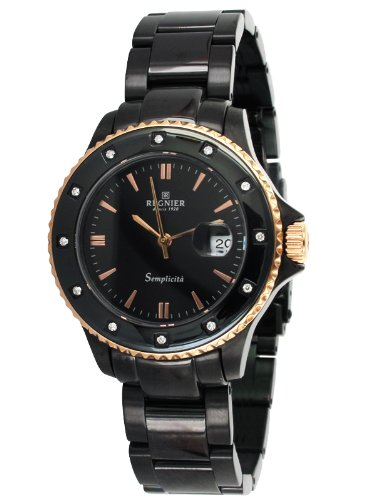Régnier Semplicita R1321 Ladies Black Stainless Steel Strap Watch 2080222