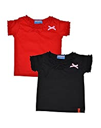 Clever baby girls Tshirt(ZCGT-004-BLK-RED-2-3Yrs_Black-Red_2-3 Years)