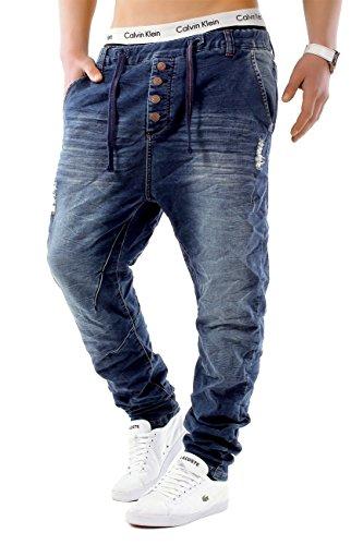 Uomo Jeans JoggJeans Backyard Freestar ID1242 Slim Fit (Straight Leg), Farben:Blu Scuro;Größe-Jeans:W32