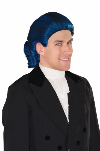 Forum Novelties Men's Historical Colonial Blue Costume Wig