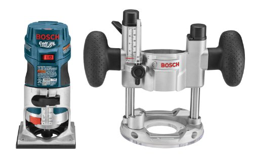 Bosch PR20EVSPK 5.6-Amp  Colt Palm Grip 1-Horsepower Fixed  and Plunge Base Variable-Speed Router Combo Kit (Bosch Pr011 Plunge Base compare prices)