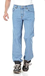 Dragaon Men's Stretchable Relax Fit Jeans-Sky Blue-D-825-Size-30