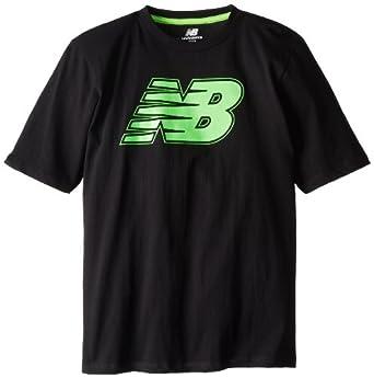 New Balance Big Boys' Short Sleeve Big Nb Graphic Jersey T-Shirt,Black,8