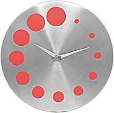 Jewel Fuel Steel Galaxy Red Analog 25 Cm Dia Wall Clock