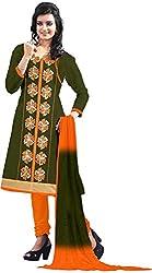 RADHE STUDIO Women's Cotton Un-Stitched Salwar Suit (RS11, Multi)