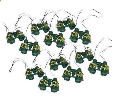 Plastic Camouflage Binoculars (12 Count)