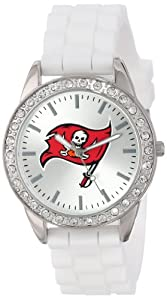Game Time Ladies NFL-FRO-TB Frost NFL Series Tampa Bay Buccaneers 3-Hand Analog Watch by Game Time