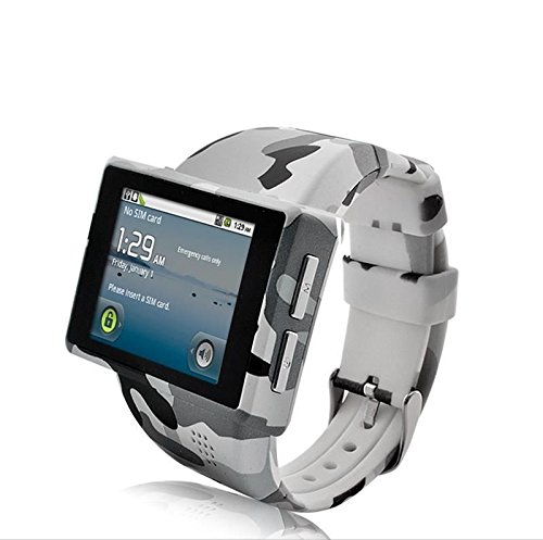 "New Shop Android Phone Watch ""Rock"" - 2 Inch Capacitive Screen, 8Gb Micro Sd, 2Mp Camera"