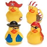 Fun Express 12 Mini Pirate Rubber Ducks Duckie Ducky Party Favors Novelty 1 Dozen