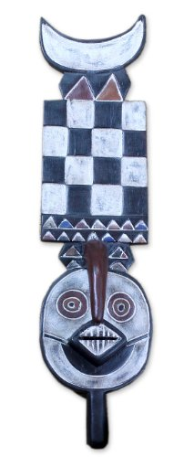 NOVICA Decorative Large Sese Wood Mask, Multicolor 'Bwa Bush Spirits'