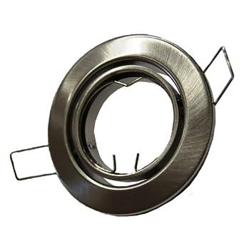 Metall Einbaustrahler Einbauspot in Eisengebürstet matt ideal für LED