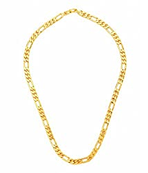 Goldnera Gold Plated 20 Inches Chain Necklace For Men