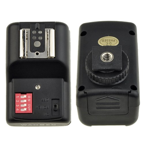 Neewer® 4 Channel Wireless Remote FM Flash Speedlite Radio Trigger with 2.5mm PC Receiver for Canon 580EX II 580EX 550EX 540EZ 520EZ 430EX, Nikon SB900 SB800 SB600 SB28, Neewer TT860, TT850, TT560, YN