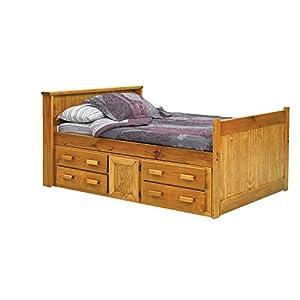 full captain 39 s bed with underbed storage childrens bed frames. Black Bedroom Furniture Sets. Home Design Ideas