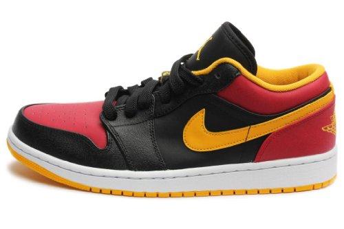 Jordan Mens 1 Low Black Red Gold 553558-035 7.5