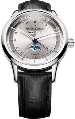 Maurice Lacroix Les Classiques Phases de Lune Mens Silver Dial Day Date Automatic Watch LC6068-SS001-131
