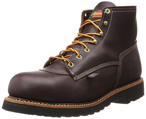 "Thorogood American Heritage 6"" Safety Toe Boot, Walnut, 12 D Us"