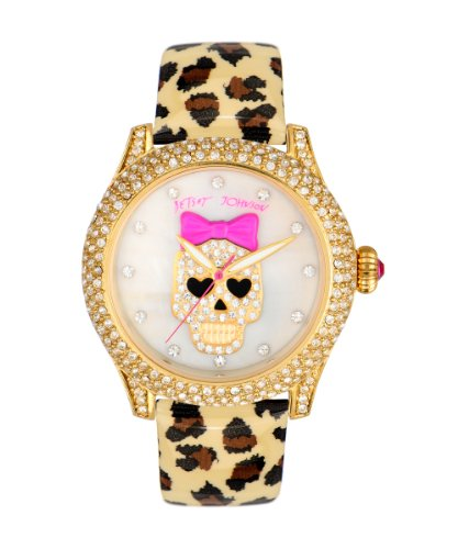 Betsey Johnson Women'S Bj00019-25 Leopard/White Watch