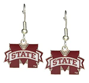 Buy Mississippi State Bulldogs - NCAA Team Logo Dangler Earrings by aminco