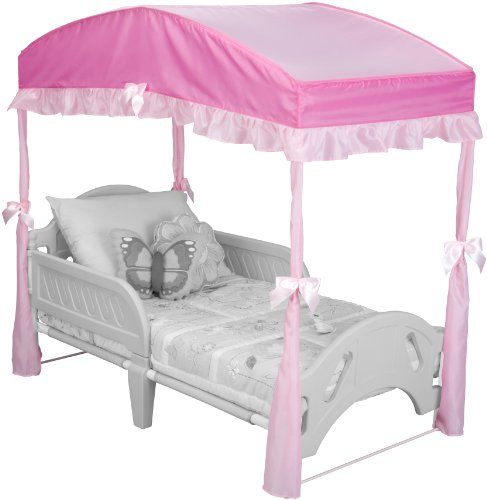 Delta Children Girls Canopy for Toddler Bed, Pink