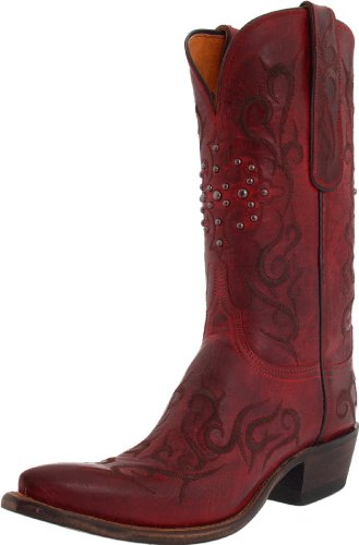 Lucchese Classics Women's N4724 Boot,Red Burnished Mad Dog Goat,11 B (M) US