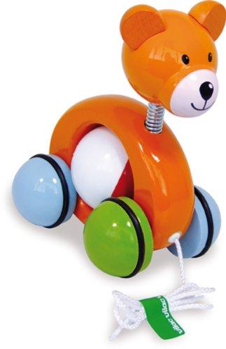 Vilac Push Along Teddy Bear Wooden Toy