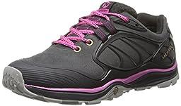 Merrell Women\'s Verterra Waterproof Hiking Shoe,Black/Rose,9.5 M US