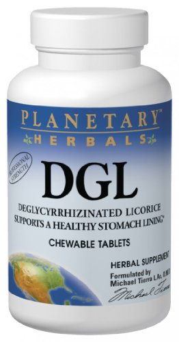 Planetary Herbals Dgl, Chewable Tablets, 200 Tablets