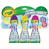 Crayola Outdoor Colored Bubbles-3 Pack Fuchsia Unmellow Yellow & Purple Pizzazz