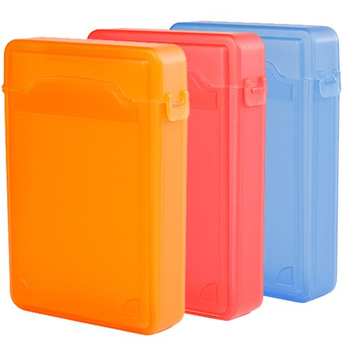 Ikross 3 Colors Package - 3.5 Inch Ide/Sata Hdd Storage Protection Boxes - Orange,Red And Blue