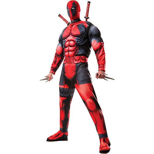 Deadpool Adult Costume Licensed Muscle Merc Wade Winston Wilson X-Men Villain