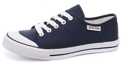Dunlop Toile 5-œillet Homme Baskets / Sneakers, Noir, Pointure 45