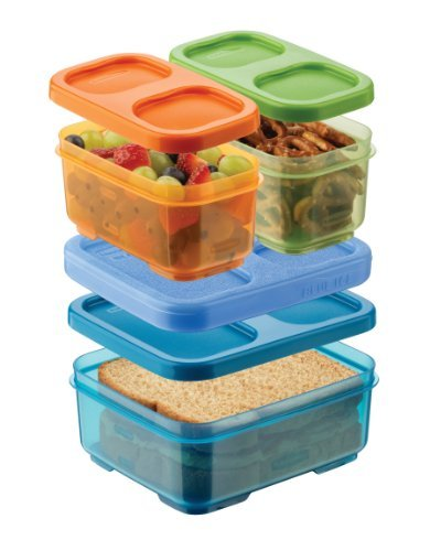Rubbermaid 1866739 Lunchblox Kid'S Tall Lunch Box Kit, Blue/Orange/Green Toy, Kids, Play, Children