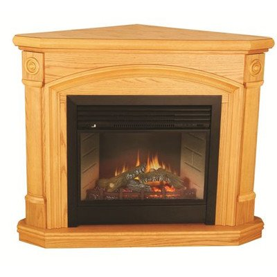 Comfort Glow Efc6436R The Kensington Corner Electric Fireplace, Remote With 24-Inch Firebox