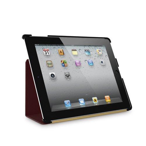 iBUFFALO iPad(2012年発売モデル) 【フラップがスタンドにも変身可能】レザーケース ブラウン BSIPD12LBR