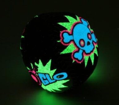 Glow In the Dark Black Blue Pink & Green Skull Foot Sack