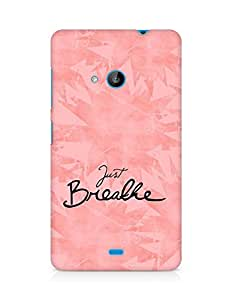 AMEZ just breathe Back Cover For Microsoft Lumia 535