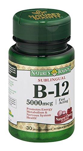 Nature'S Bounty B-12 5000Mcg Natural Cherry Microlozenges Vitamin Suppletment