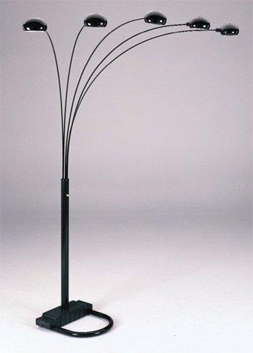 Arch Floor Lamps Ore International 6962bk 5 Arm Arch Floor