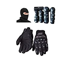 Motoway 1 Fox Knee And Elbow Guard, Pair 1 Probiker Gloves Black XL, 1 Balaclawa