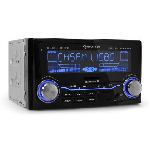 auna md 200 autoradio doppel din mp3 f higer usb und sd slot radio aufnahme 4 x 75 watt pmpo. Black Bedroom Furniture Sets. Home Design Ideas
