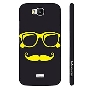 Huawei Honor Bee Yellow Moustache designer mobile hard shell case by Enthopia