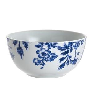 Paula Deen Signature Dinnerware Tatnall Street 4-Piece Cereal Bowl Set, Bluebell